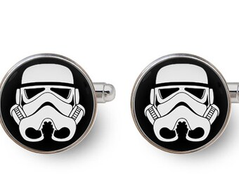 Chewbacca Cuff Links Star Wars Cuff Links 16mm Wookiee Chewie Gift for Men Groomsmen Geeky Cuff links Fandom Jewelry