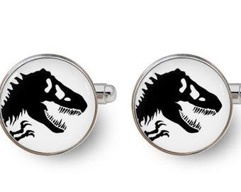dinosaur,dinosaurs,t rex,t rex cufflinks,Jurassic cufflinks,Jurassic World,jurassic,tyrannosaurus,dino,Jurassic Park -with gift box