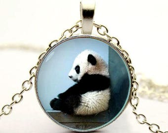 cute Panda pendant Panda necklace Panda jewelry -with gift box
