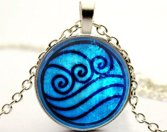 Katara water tribe necklace,water tribe pendant,Avatar,Last Airbender necklace,water tribe jewelry -with gift box
