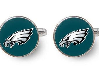 Philadelphia Eagles cufflinks,Philadelphia Eagles,philadelphia,super bowl,Eagles super bowl,football,eagle,pennsylvania,nfl -with gift box