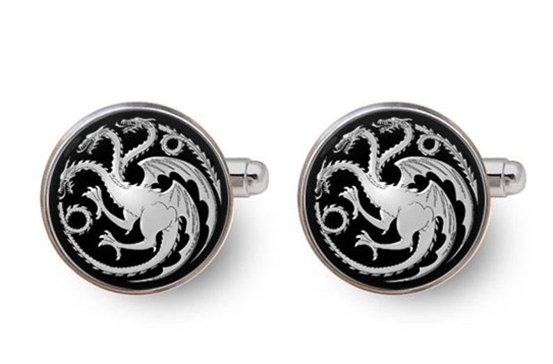 Mother of Dragons House Stark cufflinks Game of Thrones cufflinks Game of Thrones gift with gift box