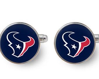 Houston Texans cufflinks,football,nfl,sports,groomsmen team,husband gift