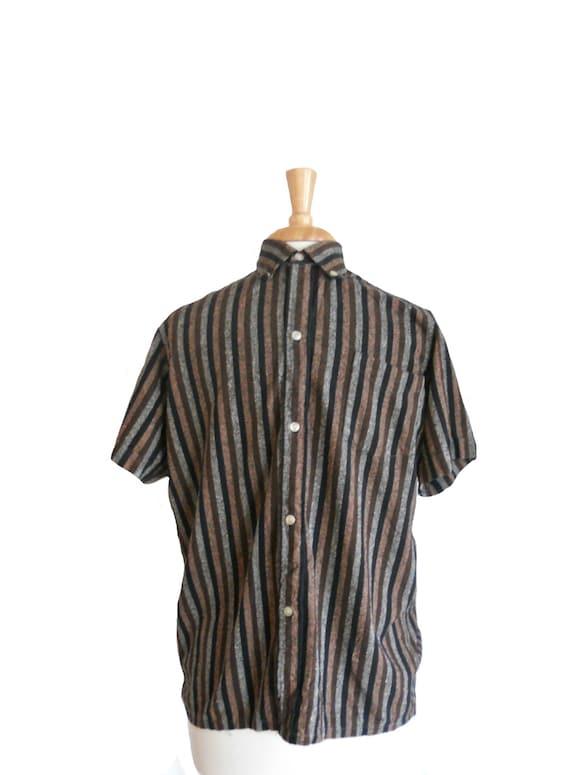 Vintage Shirt Men's 1950s Button Down Collared Shi