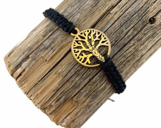 Tree of Life Charm Macrame Bracelet