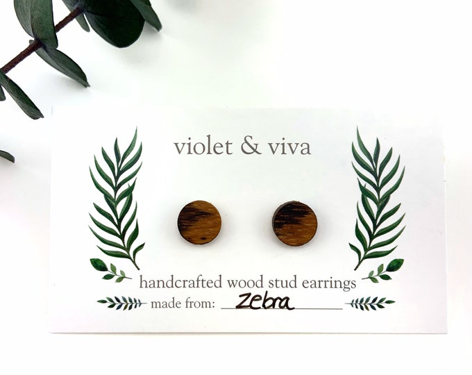 Zebrawood Stud Earrings