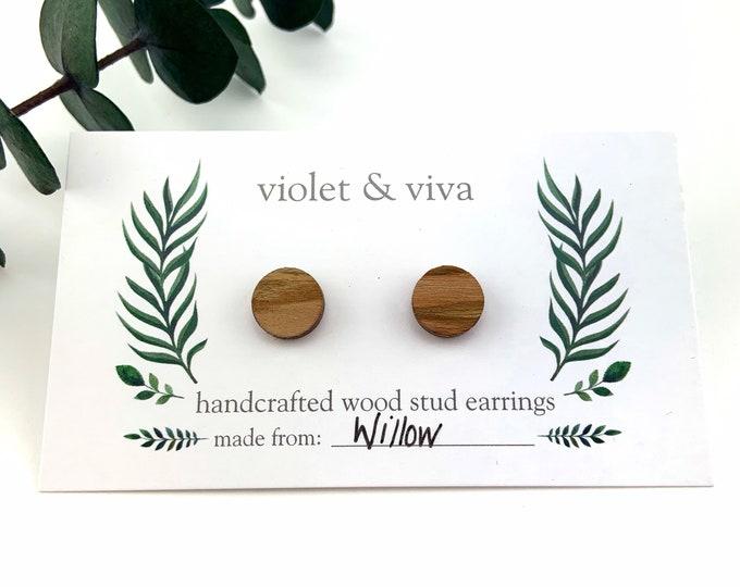 Willow Wood Stud Earrings