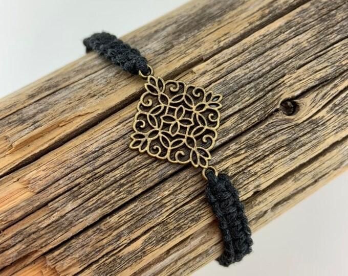 Filigree Square Macrame Bracelet