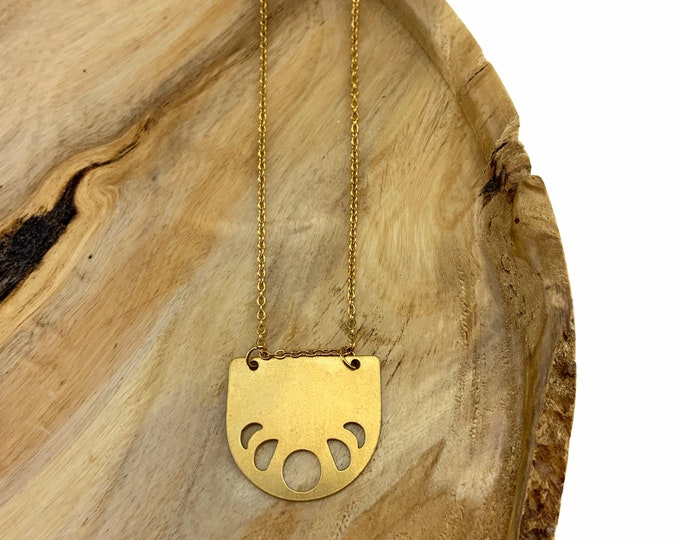 Brass Moon Phase Necklace