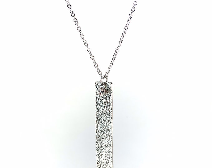 Hammered Rectangle Necklace