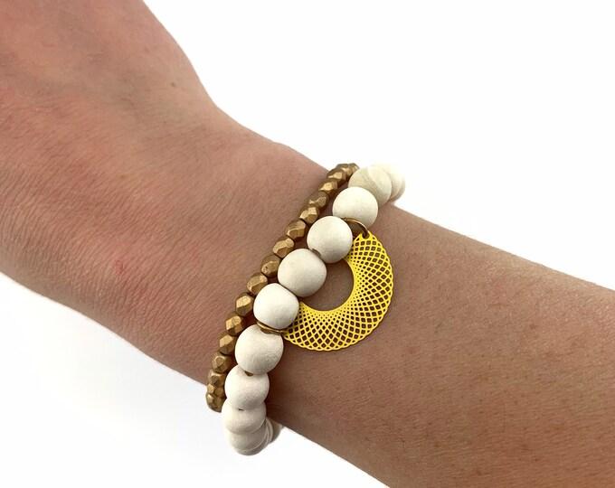 Bracelet Set - Geo Fan Charm