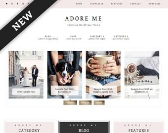Adore Me WordPress Theme — Responsive Wordpress Theme — Genesis Child Theme — Wordpress Blog Theme — Feminine Wordpress Theme — Template
