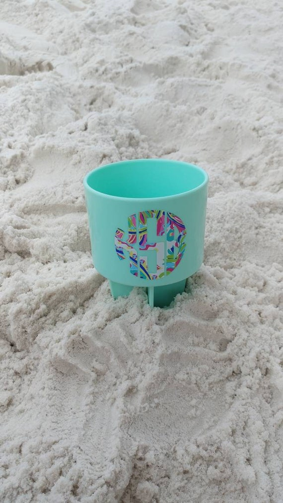 c071f000c93426 Lilly Inspired Monogrammed Beach Spikers Lilly Pulitzer | Etsy