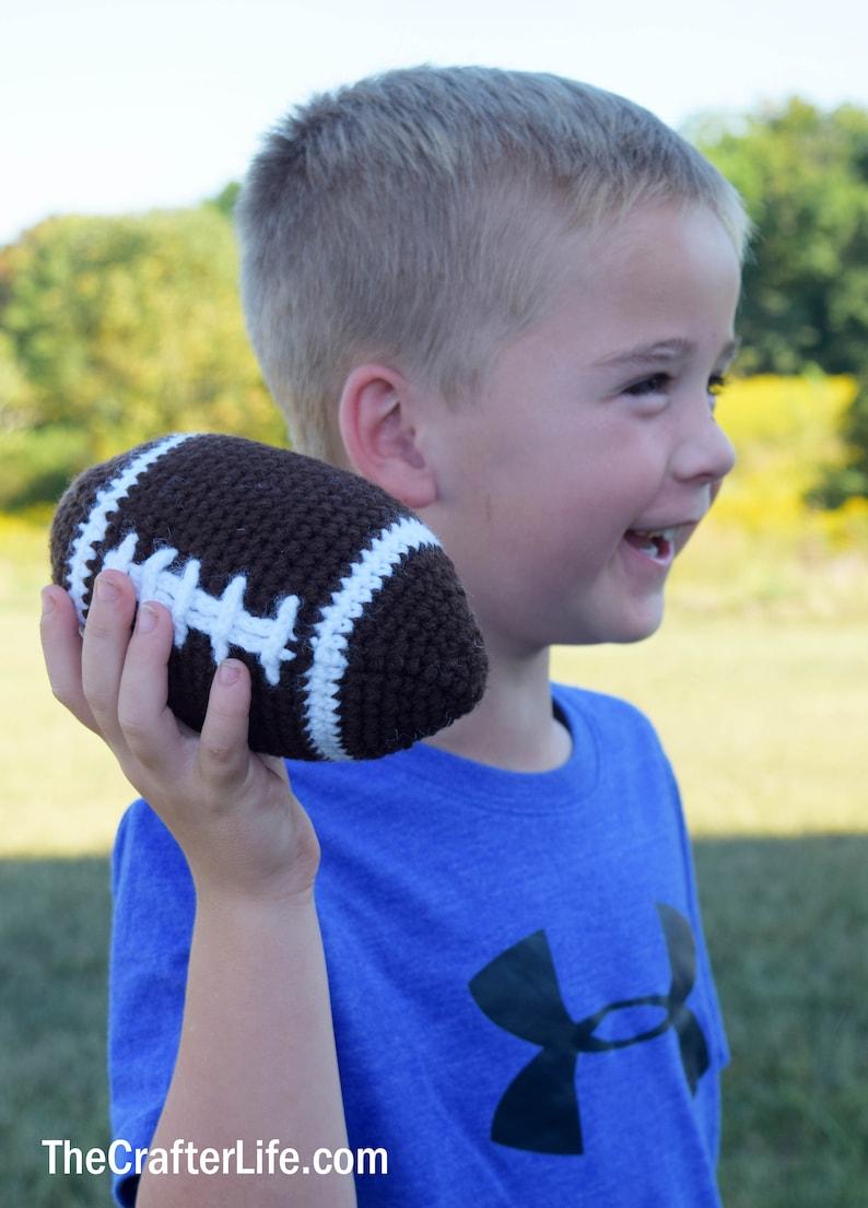Plush Football Digital Crochet Pattern image 0