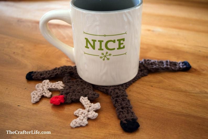 Granny's Revenge Reindeer Coaster Digital Pattern ONLY image 0