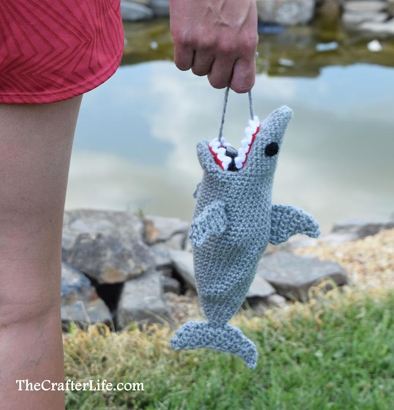 Shark Sunglass Case  Crochet Digital Pattern image 0