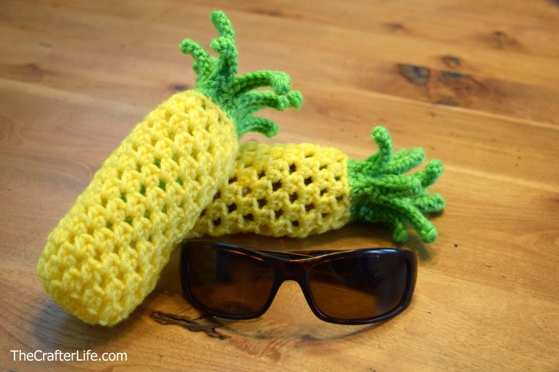 Pineapple Drawstring Sunglass Bag PATTERN ONLY image 0