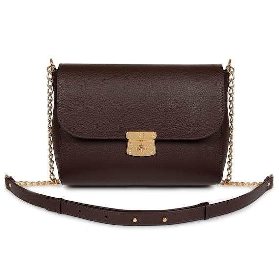 Leather bag KF-2781 Beige Leather Shoulder Bag Women/'s Leather Crossbody Bag Leather Cross body Bag