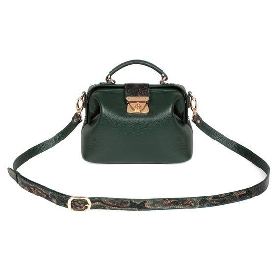 Leather Crossbody Bag Dark green Leather Shoulder Bag   Etsy 569d319dbb