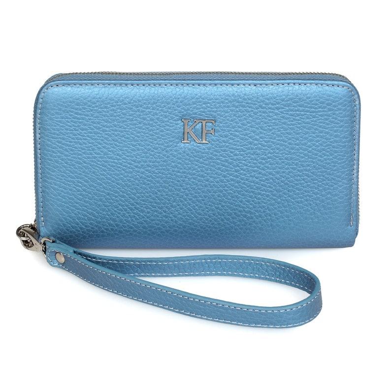 77670c87560d10 Leder Brieftasche Frau blau Leder Geldbörse Frau Leder | Etsy