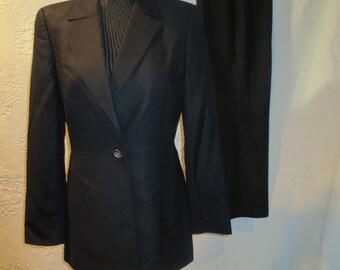 Classic Escada Black Pant Suit