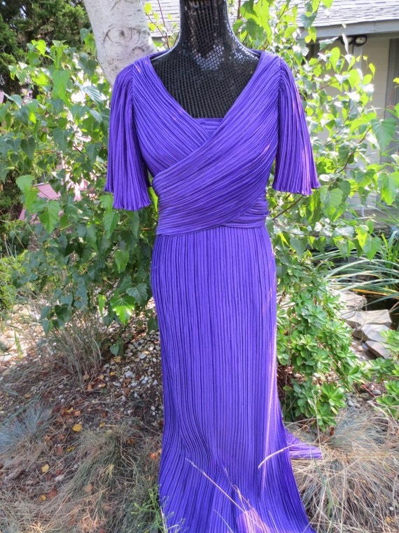 Purple Richilene Gown with Wrap