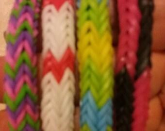X Fishtail Rubberband Bracelet