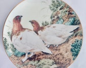 Plate decorative fine porcelain collection 39 duck off show November Plumage 39 by artist John Francis.Annee 1983.
