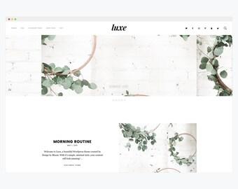 "WordPress Theme- Minimalist Blog Ecommerce Theme- Genesis Theme- WordPress Website- Fashion Blogger Theme- ""Luxe"" Instant Download"