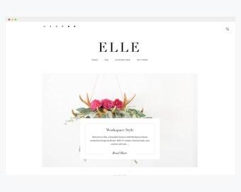 "WordPress Theme- Minimalist Blog Ecommerce Theme- Genesis Theme- WordPress Website- Fashion Blogger Theme- ""Elle"" Instant Download"