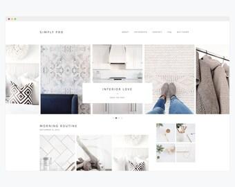 "WordPress Theme- Minimalist Blog Ecommerce Theme- Genesis Theme- WordPress Website- Fashion Blogger Theme- ""Simply Pro"" Instant Download"