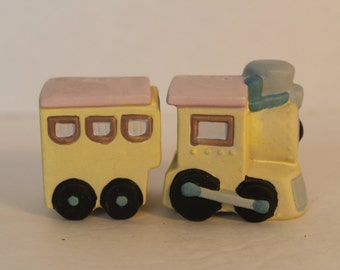 Vintage Train Salt and Pepper Shakers