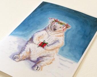 Holiday Bear - Handmade Holiday Christmas Cards (Set of 10)