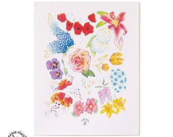 Botanical Flowers Art Print