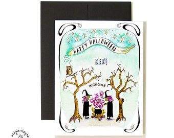 Witches Halloween Card Set - A2 - Blank
