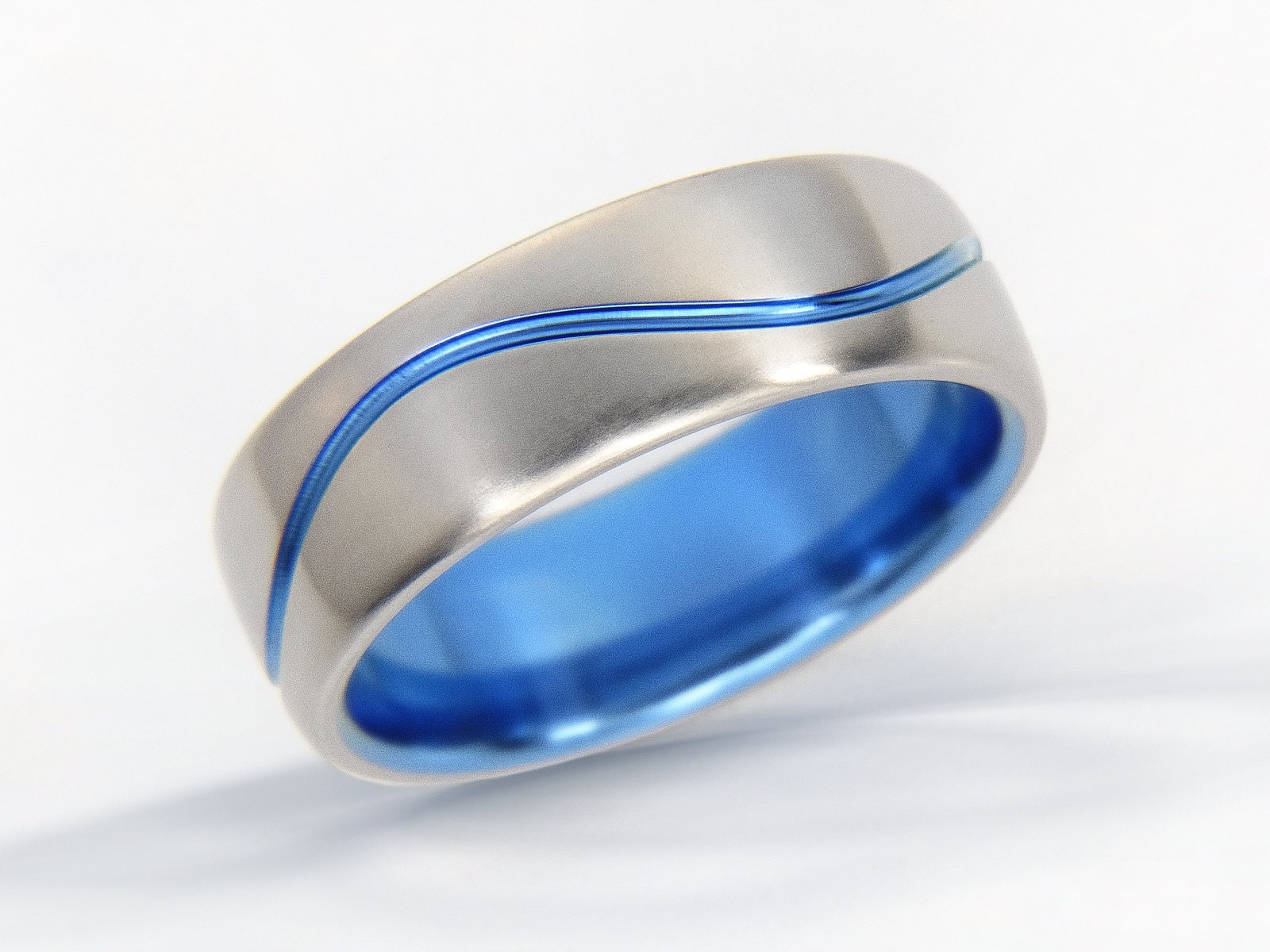 Wave Ring Ocean Wave Ring Beach Jewelry Surfer Titanium