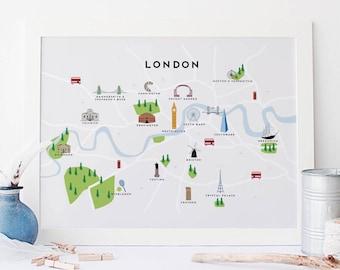 London print Etsy