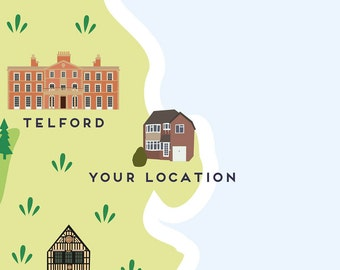Add your own location to any Pepper Pot Studios Map Print