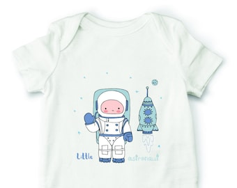 Astronaut baby bodysuit, space bodysuit, rocket baby one piece, cute baby clothes, baby shower gift, baby girl bodysuit, baby boy bodysuit