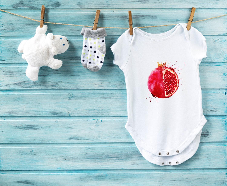 Pomegranate baby bodysuit baby shower gift cute baby | Etsy
