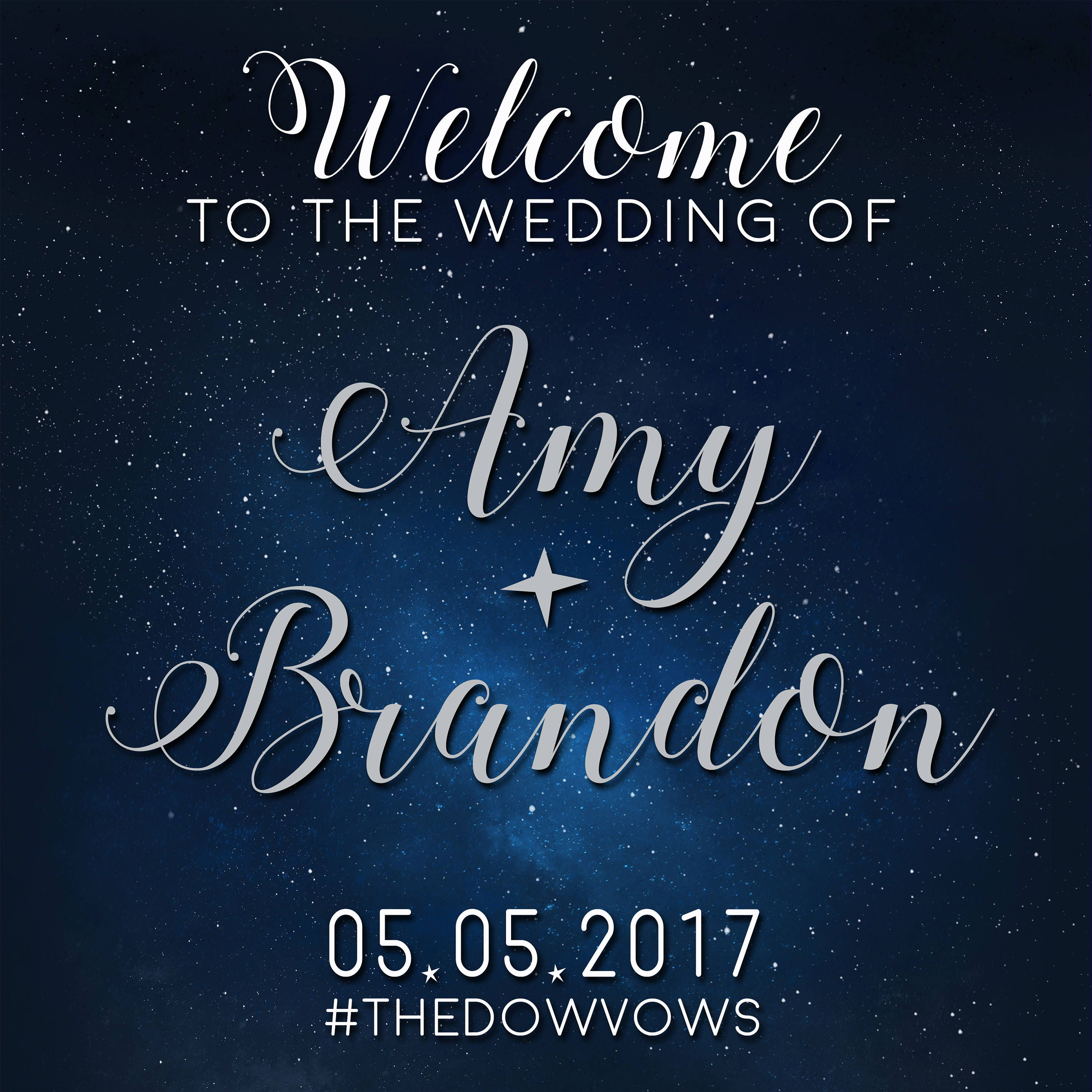 Custom Star Themed Wedding Welcome Sign Printable Star Etsy