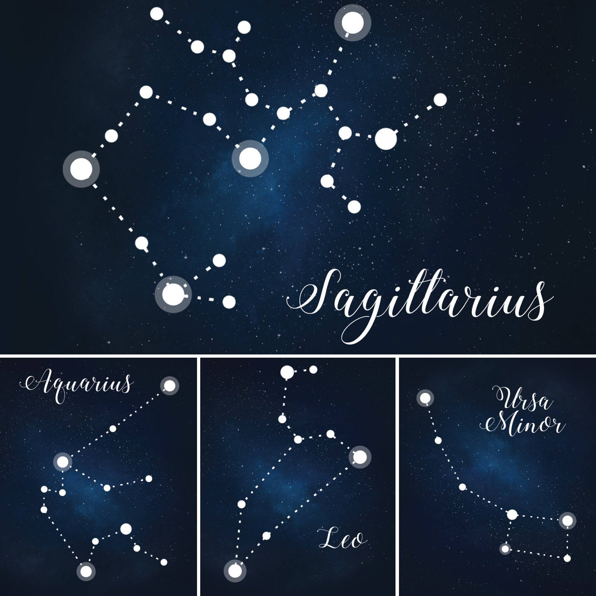 Star Themed Wedding Table Numbers Constellation Table Names Etsy