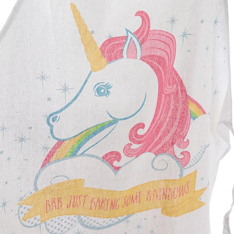 Funky Unicorn Slogan white Cotton girls ladies baking apron gift