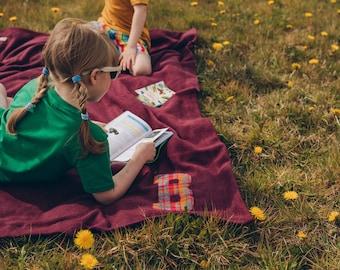 Organic Fleece Camp Blanket for Children - Personalised