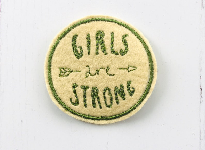 Girls Are Strong Embroidered Patch