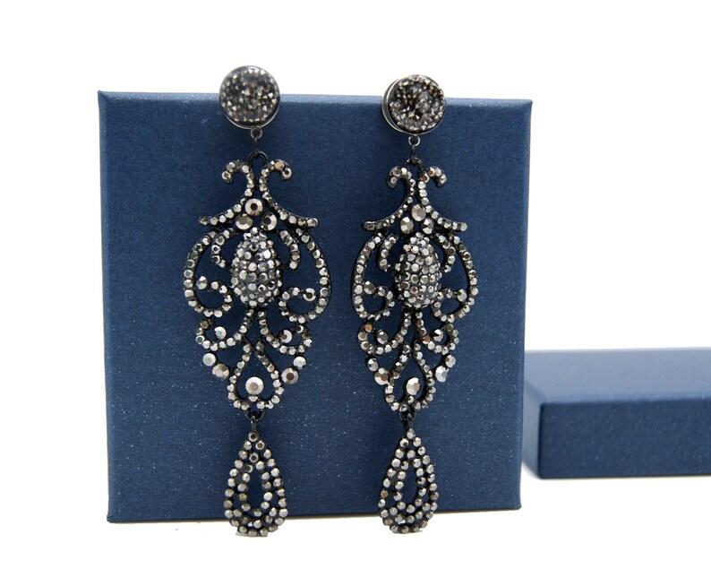 0g 4g 12 2g 6g 1116 58 34 Vintage Victoria Plugs Gauges 8g 00g 1 inch Crystal Dangle Plugs Wedding Gauges 916