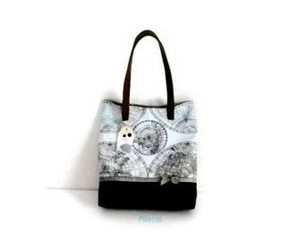 Tote bag 030 with world map by Pikeros