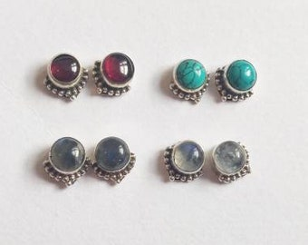 Childrens Girls Sterling Silver Multi Coloured Wizard Stud Earrings Boxed