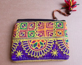 Banjara Wallet, Coin Purse, Handmade, Vintage Boho Purse Tribal Clutch Bag. Free UK Shipping B1