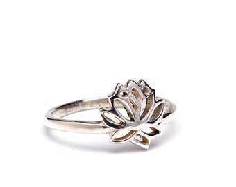 Lotus Flower Ring Etsy